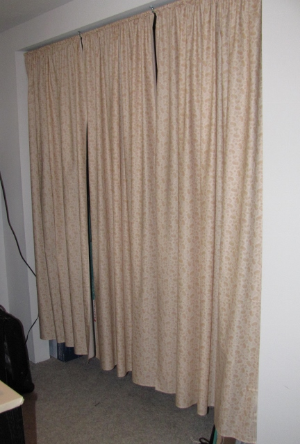 Both Of The Curtains Are Installed On Extension Rods The Closet Curtains Were A Bit Heavy